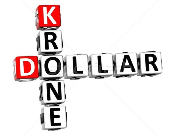 3D Dollar Krone Crossword Stock photo © Mariusz_Prusaczyk