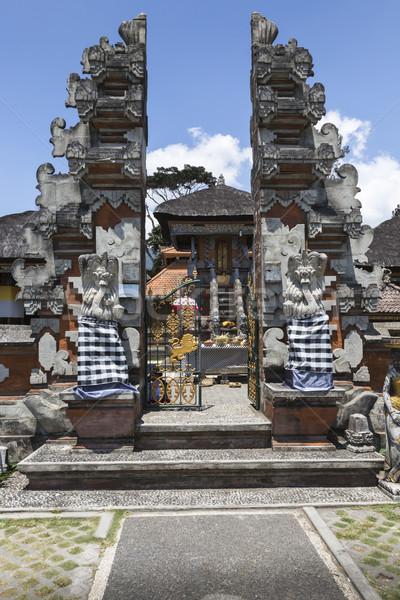 Templo lago bali Indonésia paisagem azul Foto stock © Mariusz_Prusaczyk
