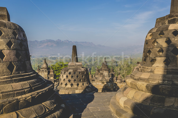 Világ örökség templom java Indonézia kő Stock fotó © Mariusz_Prusaczyk
