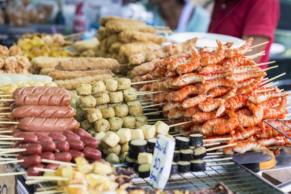 Alla griglia thai salsicce frutti di mare stufa barca Foto d'archivio © Mariusz_Prusaczyk