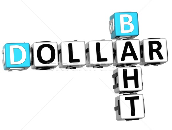 3D Dollar Baht Crossword Stock photo © Mariusz_Prusaczyk
