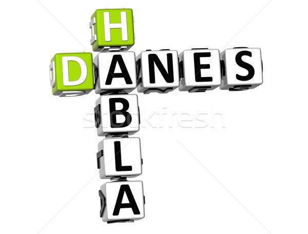 3D habla Danes Crossword Stock photo © Mariusz_Prusaczyk