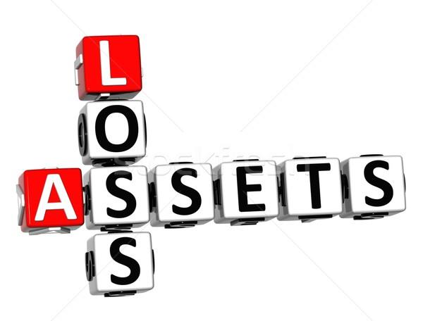 3D Assets Loss Crossword Stock photo © Mariusz_Prusaczyk