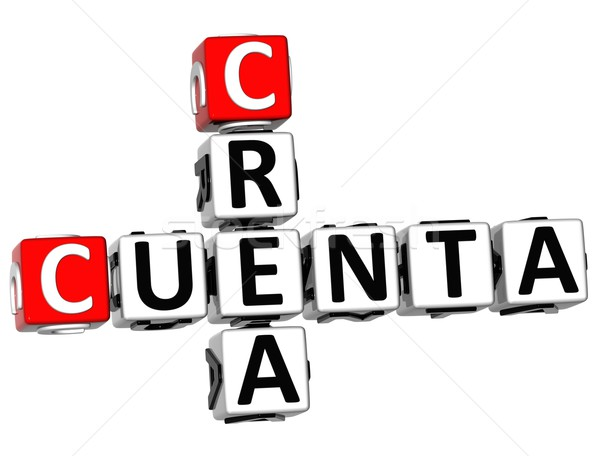 3D Crea Cuenta Crossword Stock photo © Mariusz_Prusaczyk
