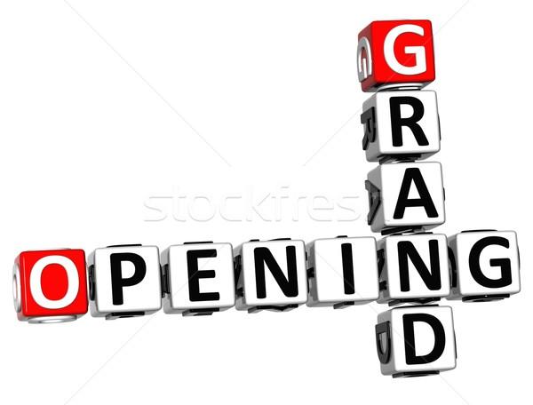 3D Grand Opening Crossword text Stock photo © Mariusz_Prusaczyk