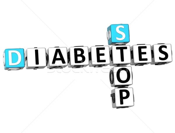3D Diabetes Stop Crossword text Stock photo © Mariusz_Prusaczyk