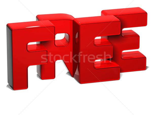 3D Word Free on white background Stock photo © Mariusz_Prusaczyk