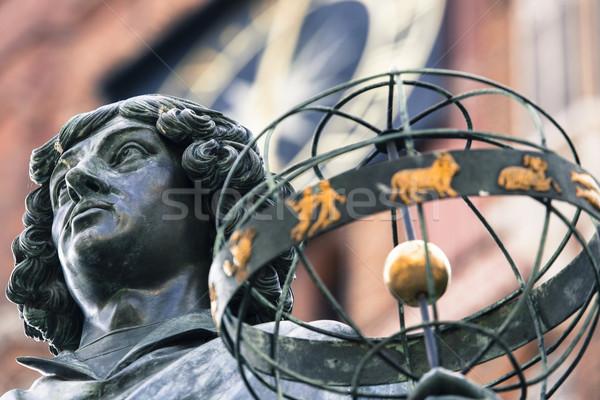 Monument of great astronomer Nicolaus Copernicus, Torun, Poland Stock photo © Mariusz_Prusaczyk