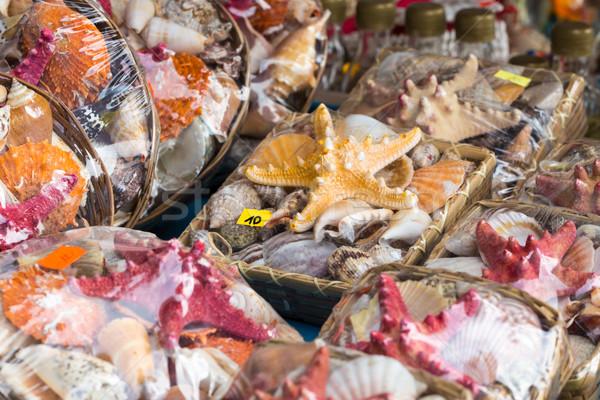 Seestern Verkauf Markt Strand Meer Hintergrund Stock foto © Mariusz_Prusaczyk