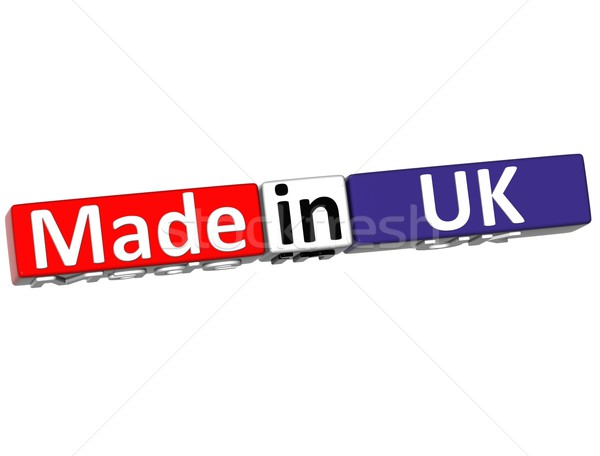 3D Regno Unito bianco business terra segno Foto d'archivio © Mariusz_Prusaczyk