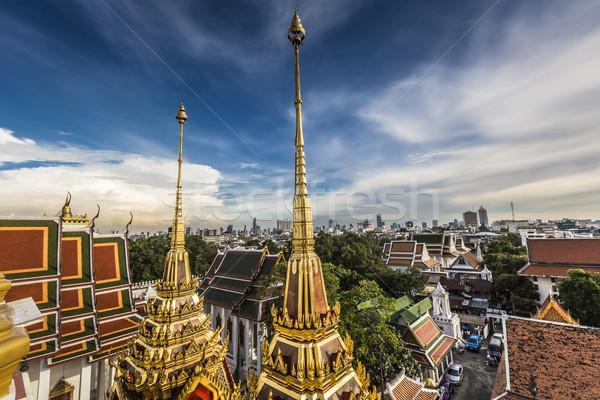 Stok fotoğraf: Metal · saray · Bangkok · Taylandlı · Tayland · Bina