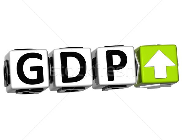 3D Gdp button block cube text Stock photo © Mariusz_Prusaczyk