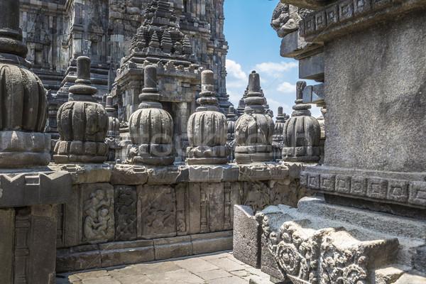 Templom java sziget Indonézia utazás napfelkelte Stock fotó © Mariusz_Prusaczyk