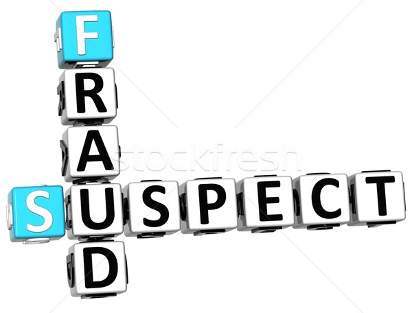3D Suspect Fraud Crossword Stock photo © Mariusz_Prusaczyk