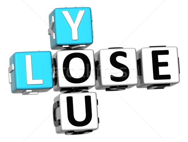 3D You Lose Crossword text Stock photo © Mariusz_Prusaczyk