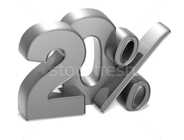3D 20 Prozent weiß Business Geld Stock foto © Mariusz_Prusaczyk