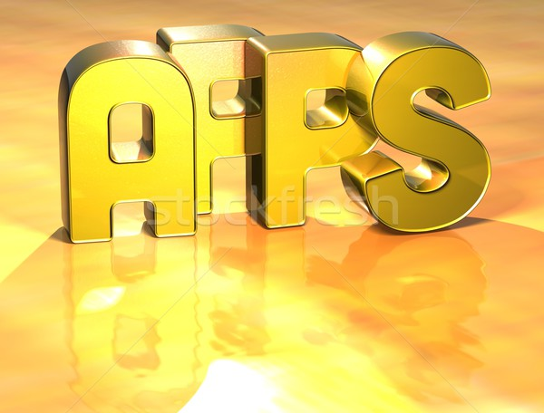 3D Word Apps on gold background Stock photo © Mariusz_Prusaczyk