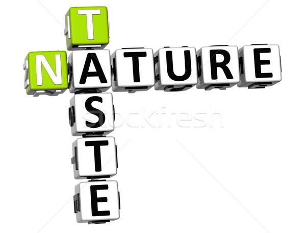 3D ízlés természet keresztrejtvény szöveg fehér Stock fotó © Mariusz_Prusaczyk