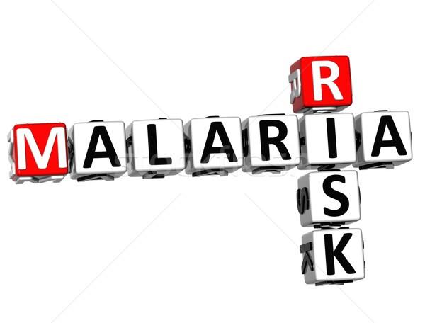 3D malária risco palavras cruzadas texto branco Foto stock © Mariusz_Prusaczyk