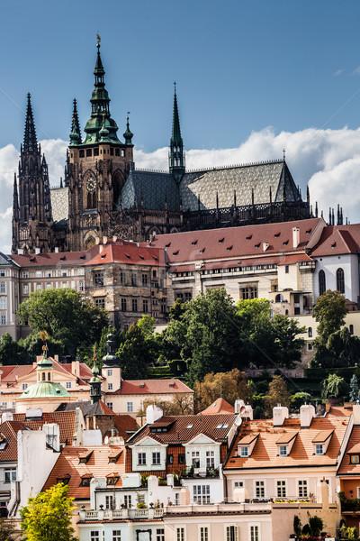 View on Prague castle from Charles Bridge  Stock photo © Mariusz_Prusaczyk