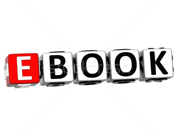 3D ebook testo bianco computer libro Foto d'archivio © Mariusz_Prusaczyk