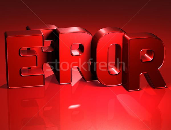 3D Word Error on red background Stock photo © Mariusz_Prusaczyk