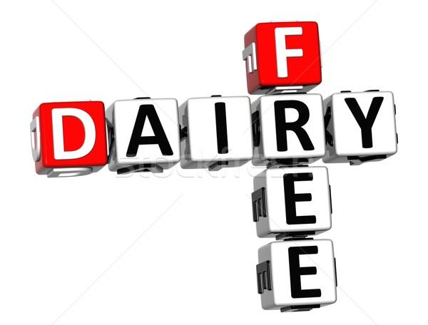 3D tejgazdaság szabad keresztrejtvény kocka szavak Stock fotó © Mariusz_Prusaczyk