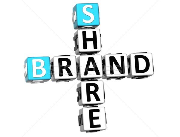 3D Share Brand Crossword cube words Stock photo © Mariusz_Prusaczyk