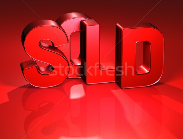 3D Word Sold on red background Stock photo © Mariusz_Prusaczyk