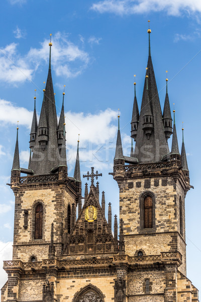 View of the Tyn Church in Prague  Stock photo © Mariusz_Prusaczyk