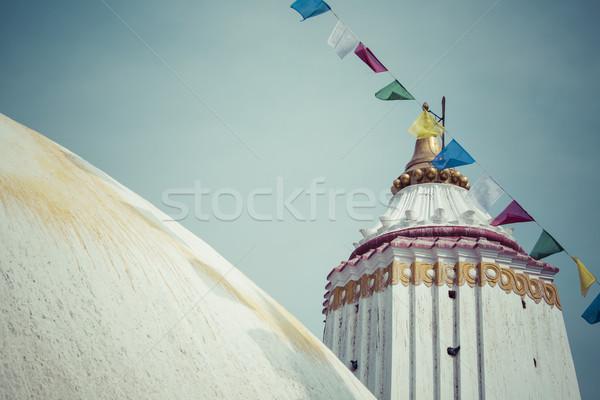 Nepal wygaśnięcia krajobraz niebieski podróży banderą Zdjęcia stock © Mariusz_Prusaczyk
