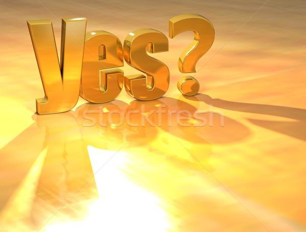 Zdjęcia stock: 3D · pomoc · złota · tekst · żółty · świetle