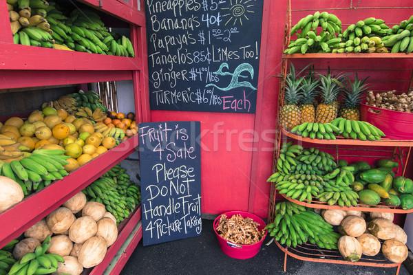 Inny owoce sprzedaży przydrożny stoją tekstury Zdjęcia stock © Mariusz_Prusaczyk