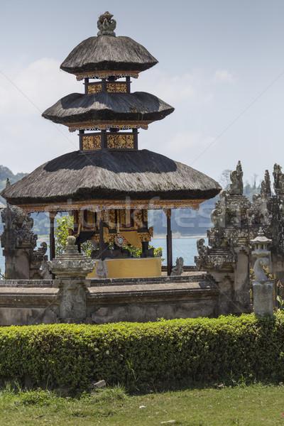 Słynny świątyni jezioro bali Indonezja krajobraz Zdjęcia stock © Mariusz_Prusaczyk