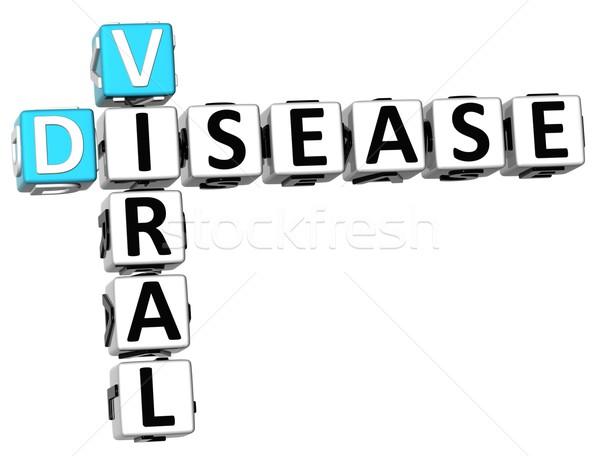 3D вирусный болезнь кроссворд белый крест Сток-фото © Mariusz_Prusaczyk
