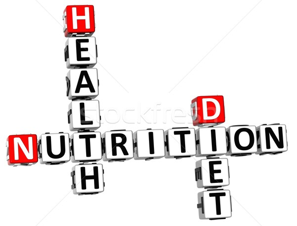 3D Nutrition Health Diet Crossword Stock photo © Mariusz_Prusaczyk