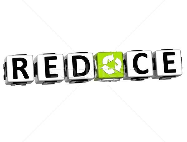 3D Recycle Block Text on white background Stock photo © Mariusz_Prusaczyk