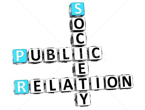 3D público relación sociedad crucigrama blanco Foto stock © Mariusz_Prusaczyk