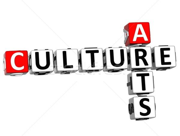 Zdjęcia stock: 3D · kultury · krzyżówka · biały · krzyż