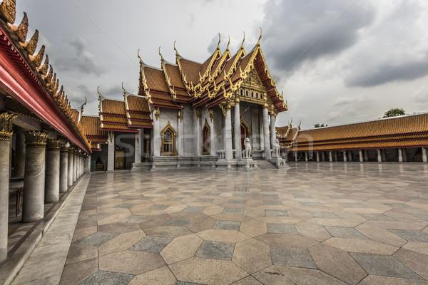 Marmuru świątyni Bangkok Tajlandia niebo budynku Zdjęcia stock © Mariusz_Prusaczyk
