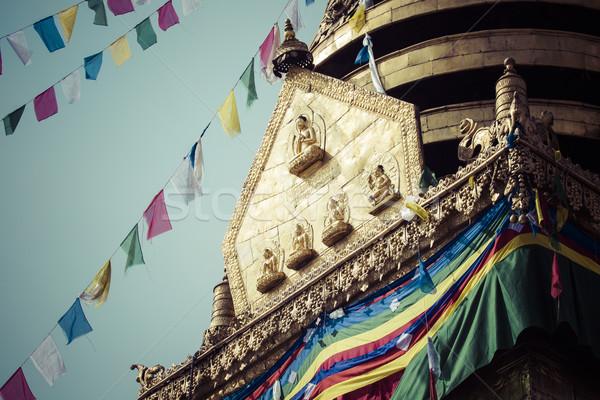 Małpa świątyni budynku wygaśnięcia złota modlitwy Zdjęcia stock © Mariusz_Prusaczyk