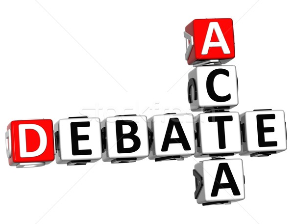 3D Debate Acta Crossword Stock photo © Mariusz_Prusaczyk