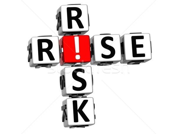 Stock photo: 3D Rise Risk Crossword