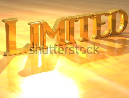 3D Quiz Gold text  Stock photo © Mariusz_Prusaczyk