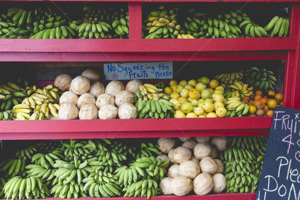 Ander vruchten verkoop kant van de weg stand textuur Stockfoto © Mariusz_Prusaczyk