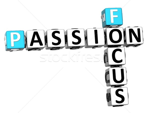 3D Focus Passion Crossword text Stock photo © Mariusz_Prusaczyk