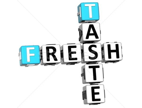 3D Fresh Taste Crossword text Stock photo © Mariusz_Prusaczyk