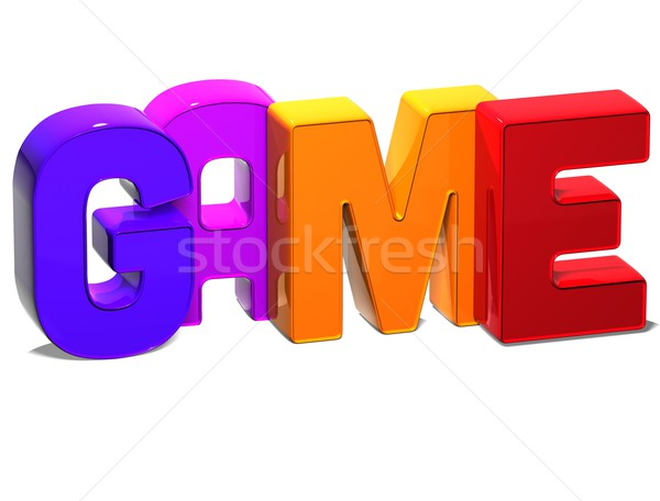Stock photo: 3D Word Game on white background