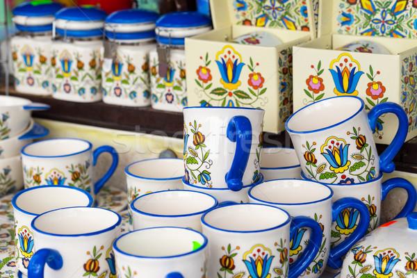Kolorowy ceramika rynku projektu piękna sztuki Zdjęcia stock © Mariusz_Prusaczyk