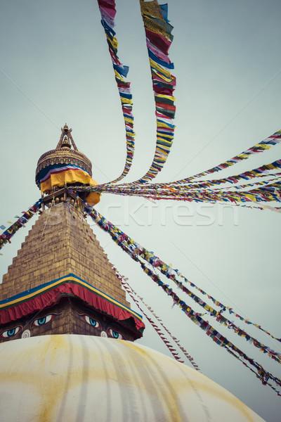 Nepal niebo oka kultu asian Zdjęcia stock © Mariusz_Prusaczyk